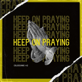 Praying Mixtape/Album Cover Art Template Pochette d'album