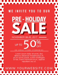 Pre Holiday Sale Flyer (US Letter) template