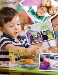 pre k day care preschool Flyer Template Volante (Carta US)