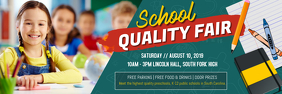 Pre-school Fair Facebook Banner Template