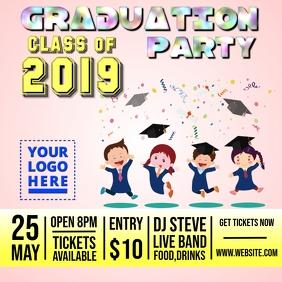 Pre School Graduation Party Design template