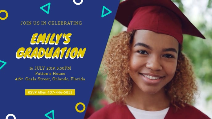 Pre-school Graduation Party Dinner Invitation