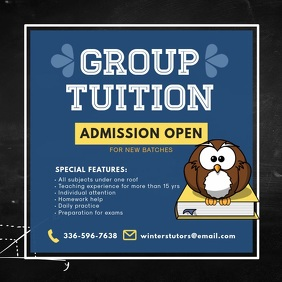Pre-school Group Tuition Online Ad