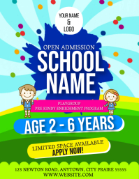 PRE-SCHOOL KINDERGARDEN FLYER Template