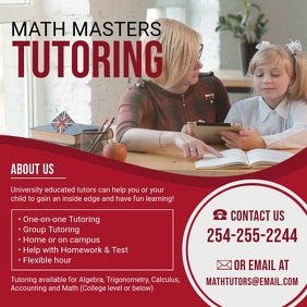 Pre-school Math Tuition Center Advert