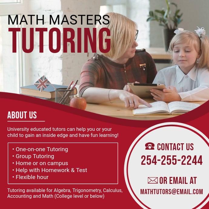 Pre-school Math Tuition Center Advert