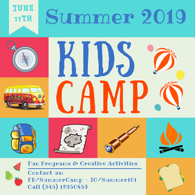 Pre-school Summer Camp Advert