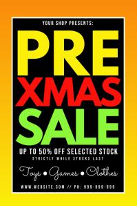 Pre Xmas Sale Poster