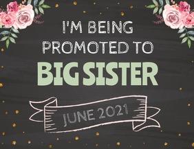 Pregnancy Announcement sign Flyer (US Letter) template