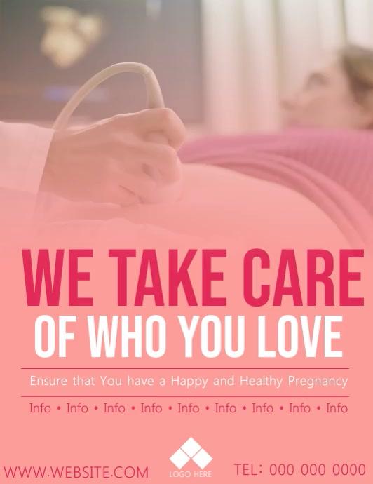 Pregnancy / Pregnant Video Flyer Template
