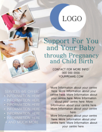 Pregnant / Pregnancy Flyer Template