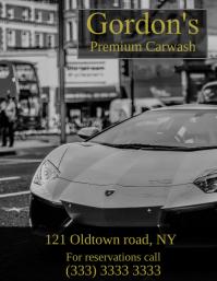 Premium carwash flyer ad