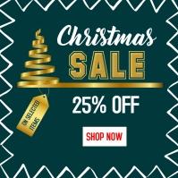 Premium Christmas sale Instagram post templat