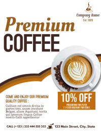 premium coffee minimal flyer advertisement template