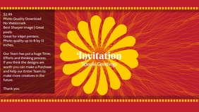 Premium Invitation & greeting card
