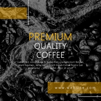 premium quality coffee instagram post adverti template