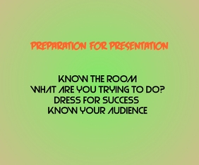Preparation for presentation Large Rectangle template