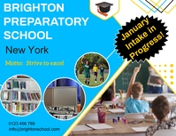 Preparatory school ad Flyer (US Letter) template