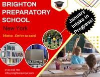 Preparatory school ad ใบปลิว (US Letter) template