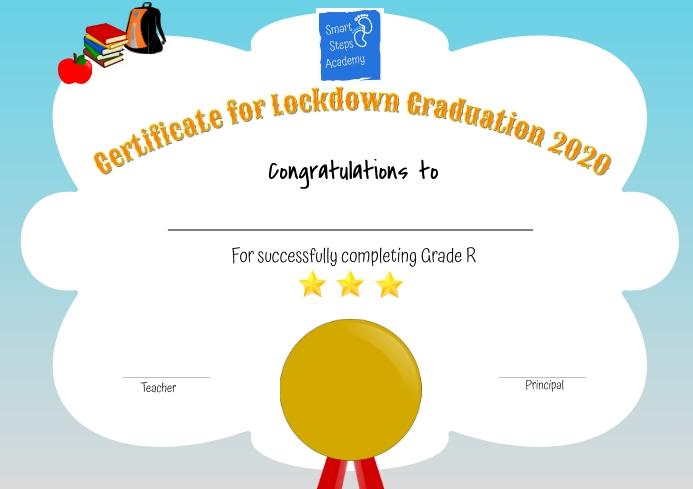Preschool Certificate A4 template