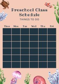 Preschool Class Schedule Timetable