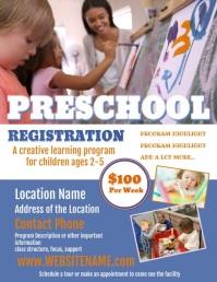 Preschool Flyer Рекламная листовка (US Letter) template