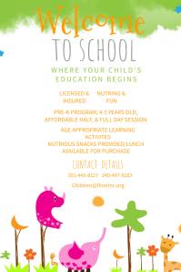 preschool poster template