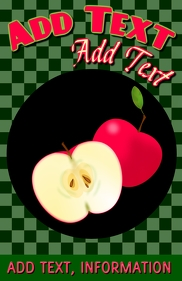 presentation of red apples