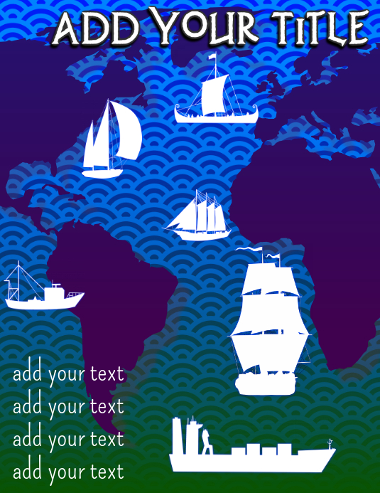 presentation of ship travel over ocean map