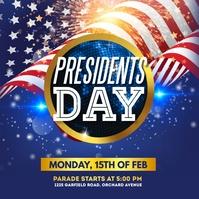 president's day, president's day sale Instagram-bericht template