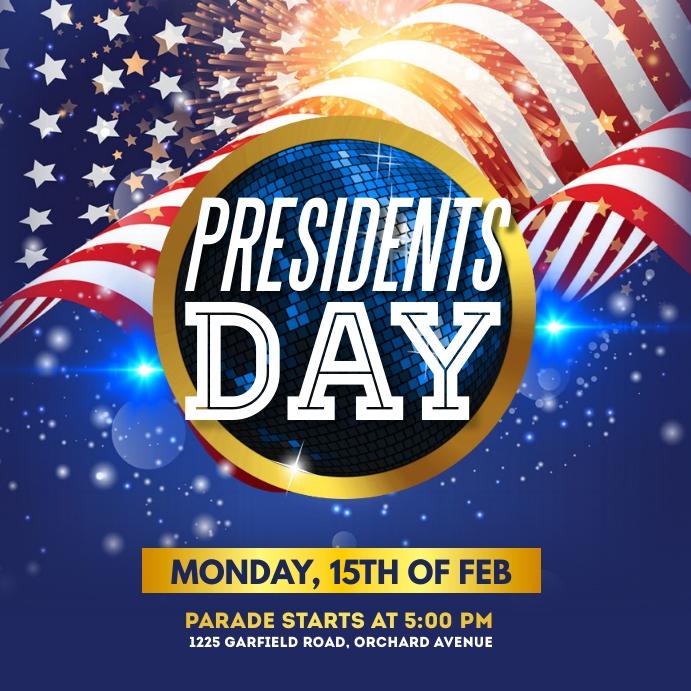 president's day, president's day sale Instagram Post template