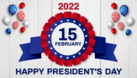 President's day,event Blog overskrift template
