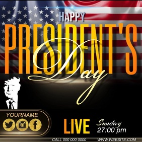 president's day ad template