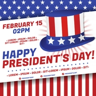 PRESIDENT'S DAY BANNER Wpis na Instagrama template