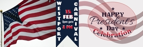 PRESIDENT'S DAY BANNER TEMPLATE Bannière 2' × 6'