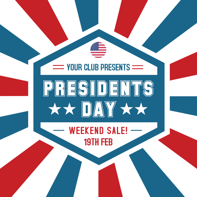 President's Day Big Sale Advert Online Сообщение Instagram template