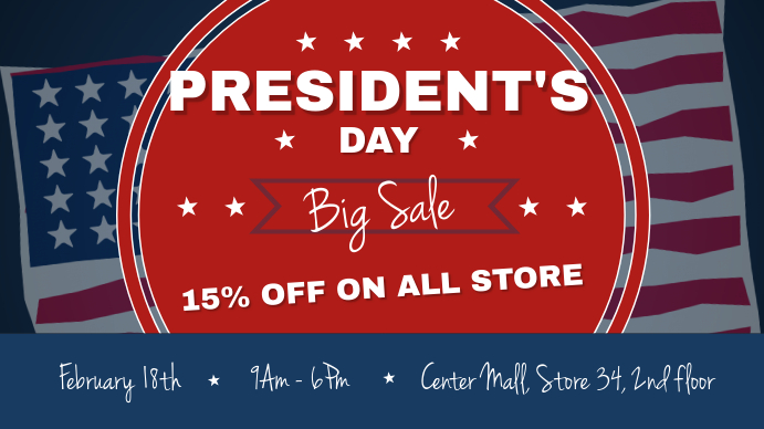 President's Day Big Sale Digital Display Image