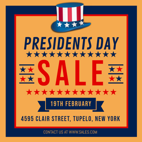President's Day Clearance Sale Online Advertisement