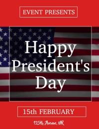 PRESIDENT'S DAY Folder (US Letter) template