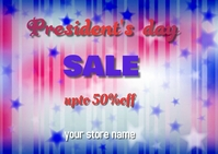 president's day Carte postale template