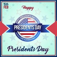 President's day Publicação no Instagram template