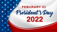 President's day Blog overskrift template