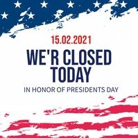 president's day Instagram-bericht template