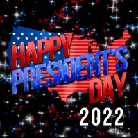 President's day Message Instagram template