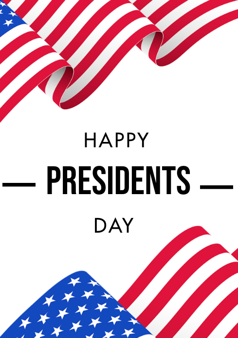 president's day A3 template