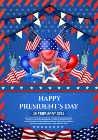 president's day A4 template