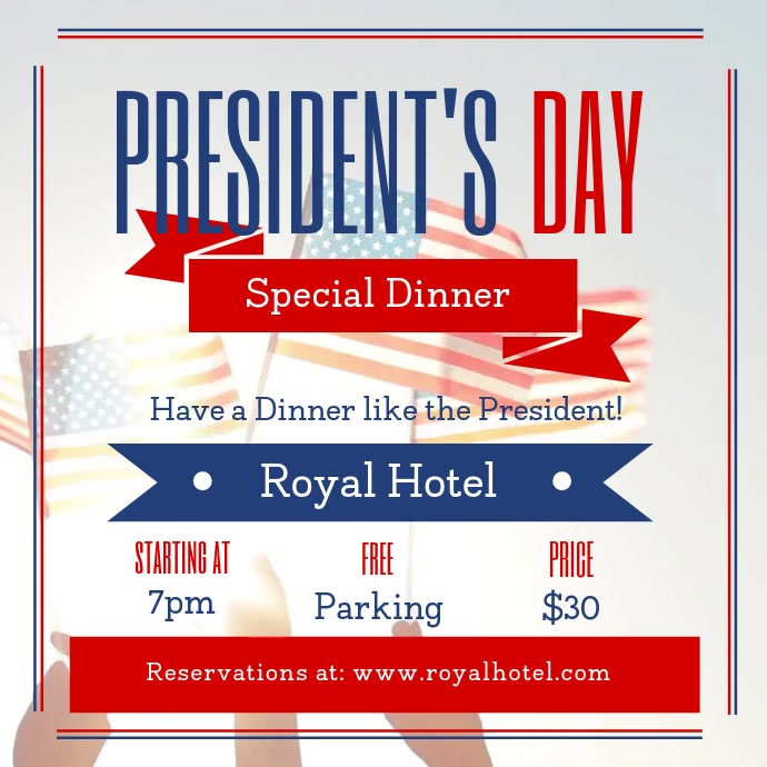 President's Day Dinner Deal Square Video