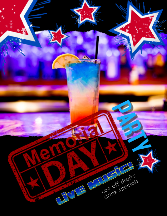President's Day Party Club Flyer