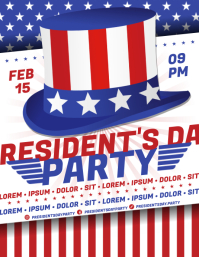 PRESIDENT'S DAY PARTY FLYER template