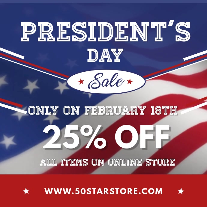 President's Day Party Square Video